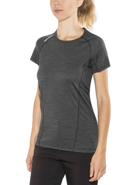 Devold Running - Camiseta manga corta Mujer - negro